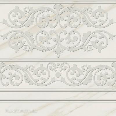 Декор 60*60 Cenefa Vitreo Blanco