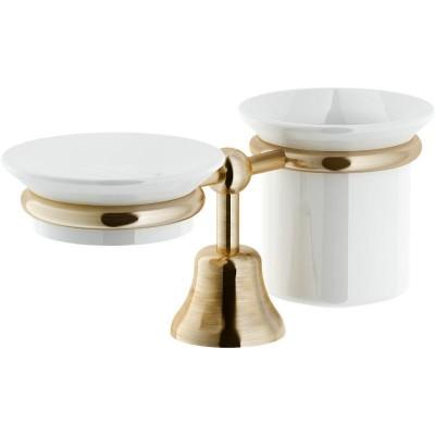 Мильниця І Склянка Для Зубних Щіток З Тримачем Bronze Acgr03Br