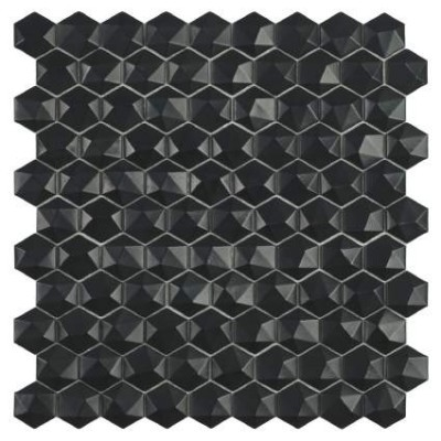 Мозаїка 31,5*31,5 Matt Black Hex 903 D